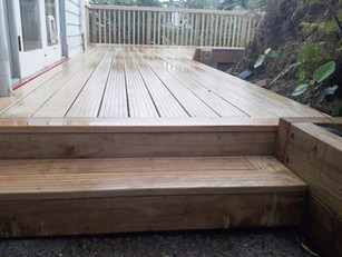 Wideboard deck steps