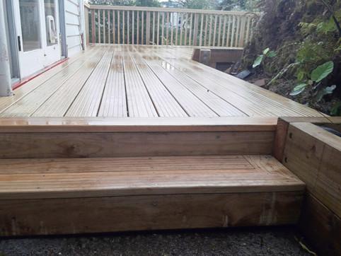 Wideboard deck steps