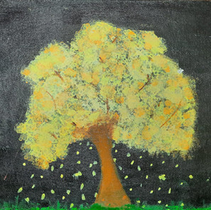 Golden Tree on Black Royalty.