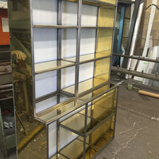 Brass and steel cupboard