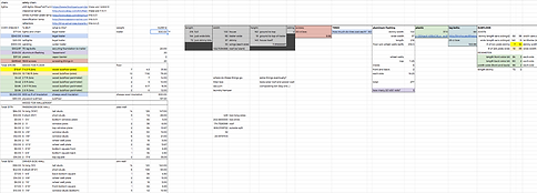 house building spreadsheet
