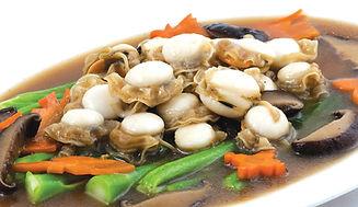 หอยเชลล์อบยอดผัด.jpg