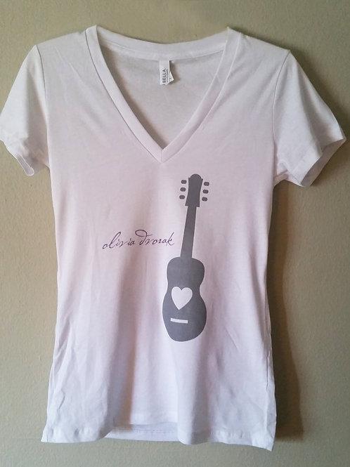 Guitar - Women's Deep V-Neck