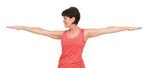 Simple Yoga pose