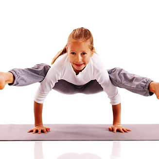 Young Girl in a Yoga post