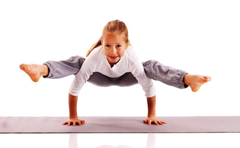 Girl doing a Yoga pose