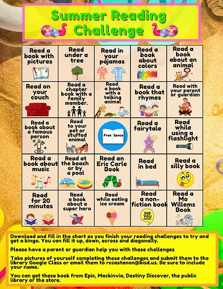 Summer Reading Challenge Bingo.png