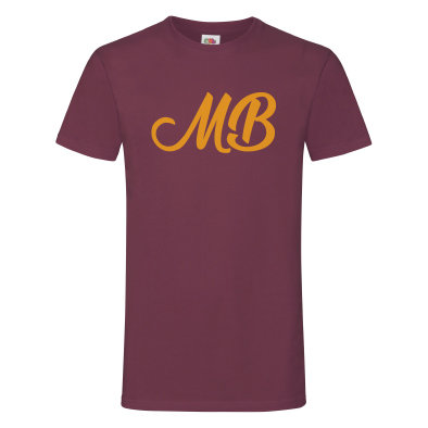 Monk Bretton CC T-Shirt - Burgundy