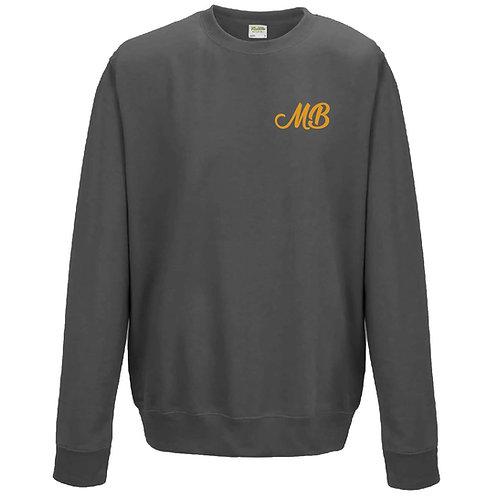 Monk Bretton CC Sweatshirt - Graphite - Left Chest Print