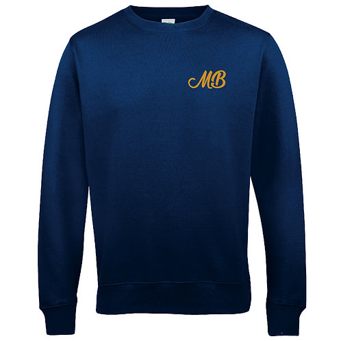 Monk Bretton CC Sweatshirt - Navy - Left Chest Print