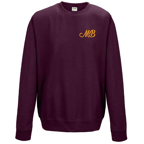 Monk Bretton CC Sweatshirt - Burgundy - Left Chest Print