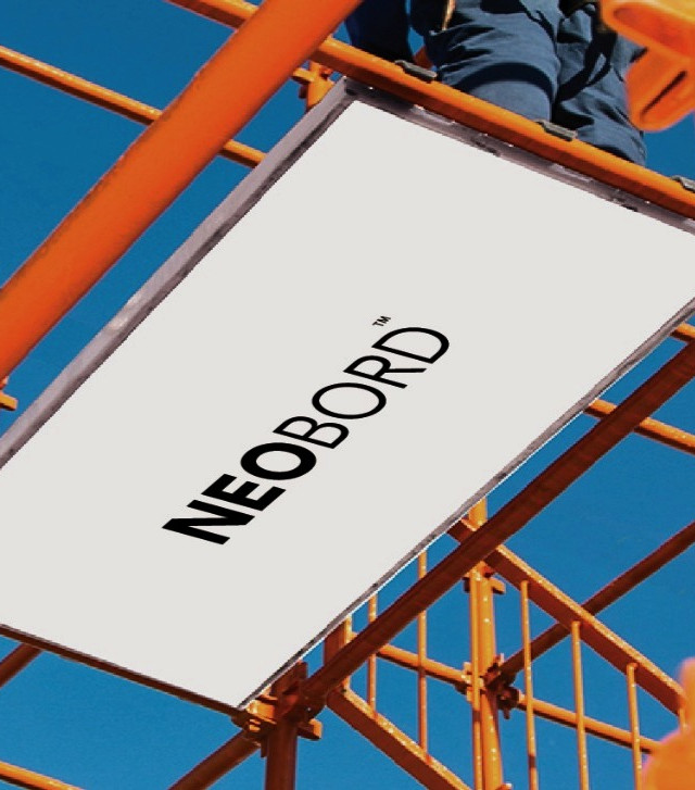 orange-metal-framework-scaffolding-system-with-white-composite-scaffold-board-NEOBORD-platform-in-aluminum-U-Frame