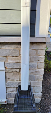 Custom Debris Filtering Downspout System - Pacocha Landscaping Services