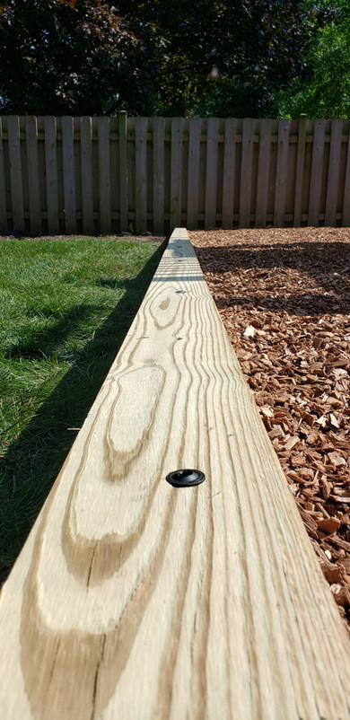 Treated Wood Timber Installation - Pacocha Landscaping Services