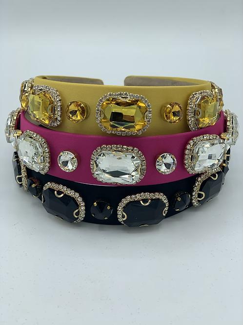 Crystal Jewel Headband Amber