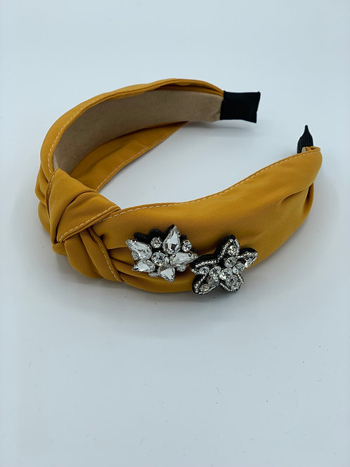 Elena Crystal Headband Gold