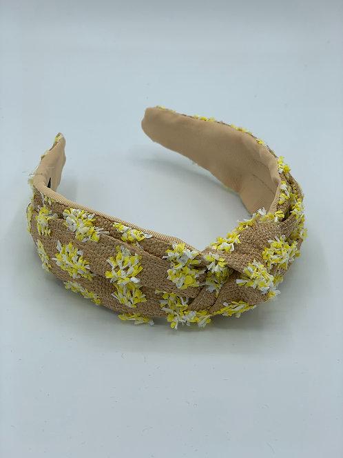 Palermo Luxe Raffia Headband Yellow