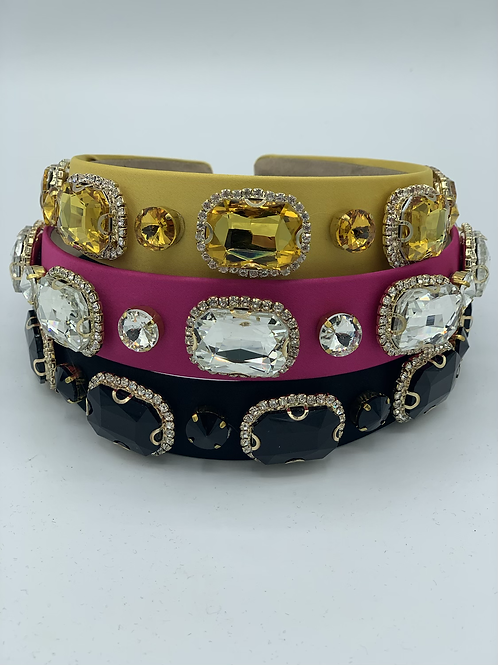 Crystal Jewel Headband Pink