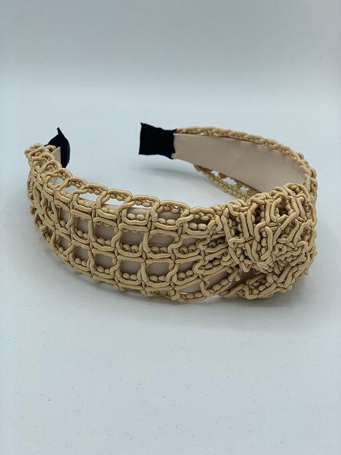 Crochet Headband Soft Gold