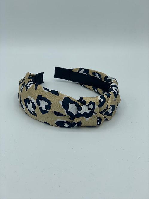 Classic Leopard Headband Champagne