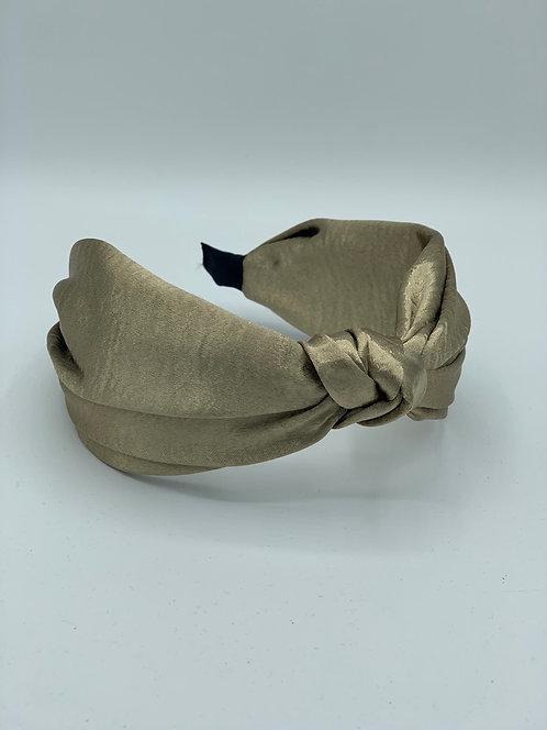 Knot Satin Headband Champagne