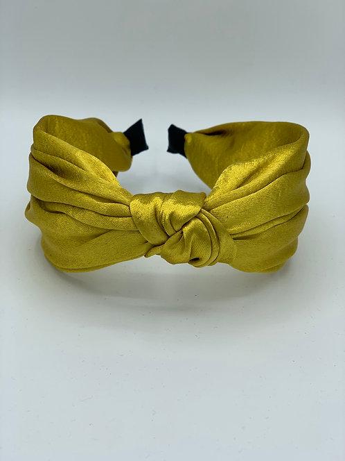 Knot Gold Satin Headband