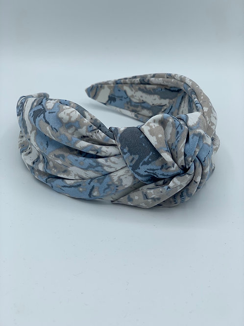 Maxi Knot Headband Blue