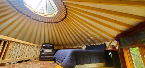 Upstairs Bedroom In 20' Yurt