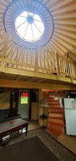 Lofted 20' Yurt With Spiral Stairs