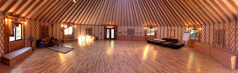 nomad shelter alaskan yurt 50 foot interior with finished hardwood floor