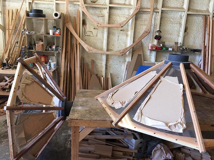 nomad shelter alaskan yurt plexiglass skylight in the shop