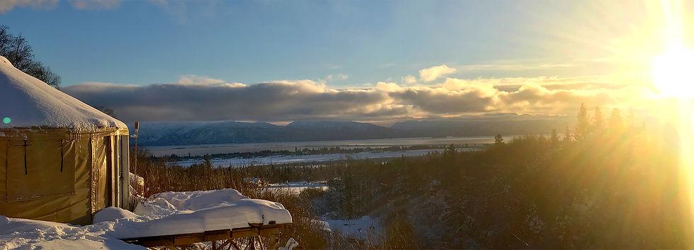 nomad shelter alaskan yurt in homer alaska beautiful view