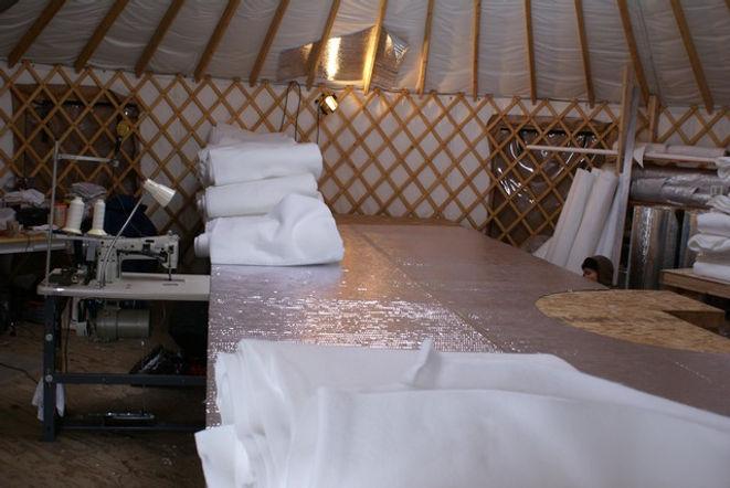 nomad shelter alaskan yurt insulation in the shop