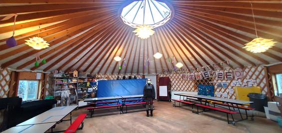 40' School Yurt Interior