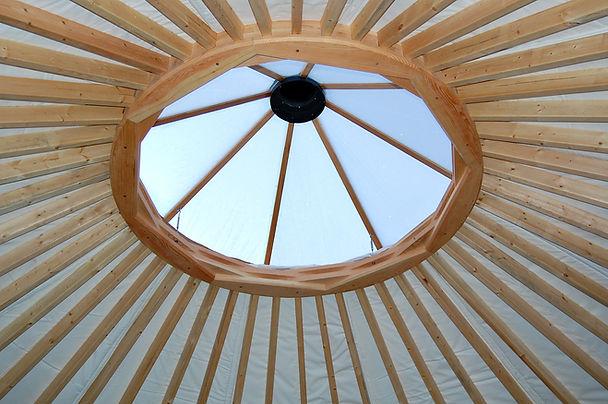 nomad shelter alaskan yurt unique design ring skylight and lattice