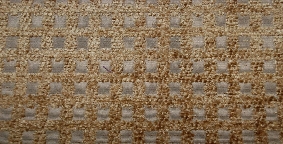 Gold Grid Texture Fabric - Brown