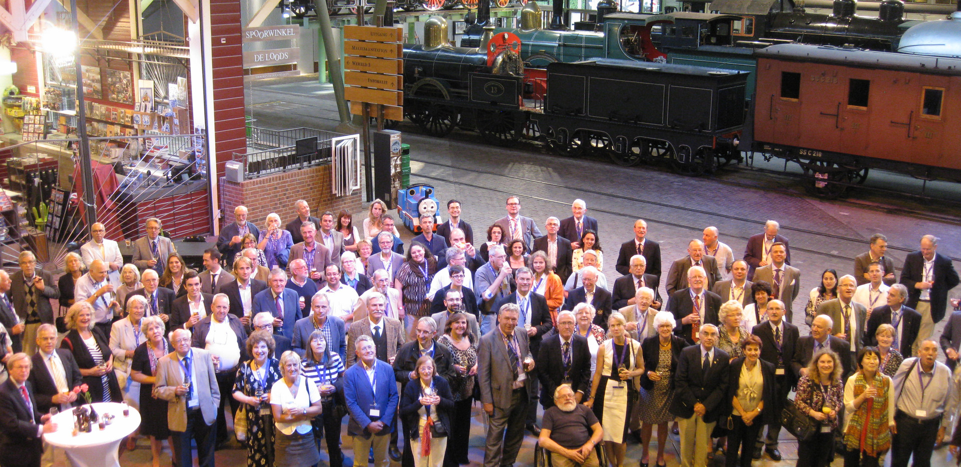 Delegates at the Railway Museum 2012