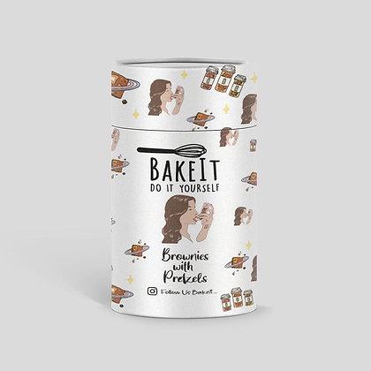 """תערובת להכנת בראוניז עם שברי בייגלה מלוח """"BakeIt"""""""