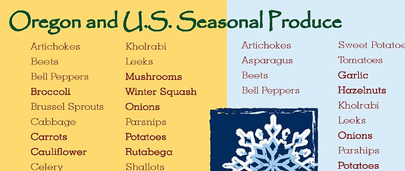 Seasonal Produce in the United States and Oregon