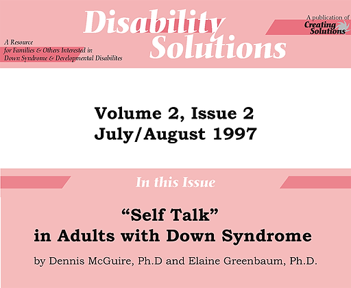 Disability Solutions July/August 1997: Self Talk