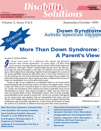 Disability Solutions DS-ASD Focus Issue