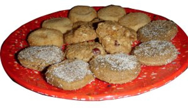 Plate of WOW Bakery Cookies