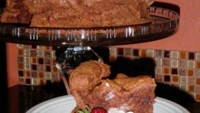 Wait. Is that CHOCOLATE Angelfood Cake? (Gluten free?)