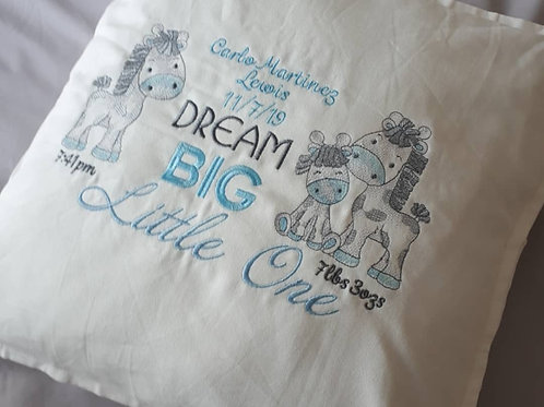 DREAM BIG LITTLE ONE GIRAFFE CUSHION COVER