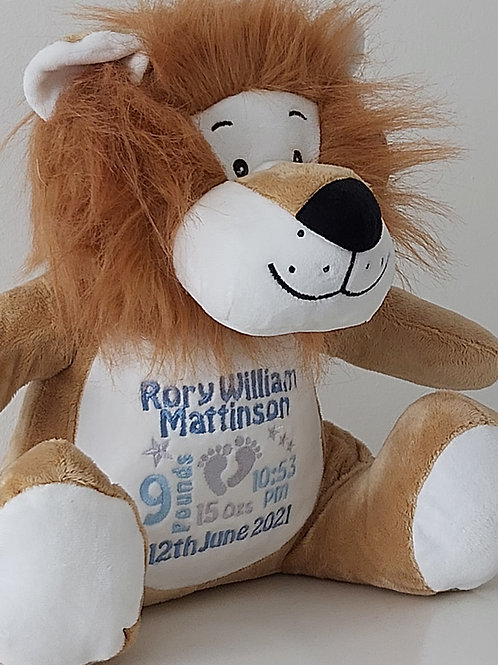 EMBROIDERED TUMMY LION