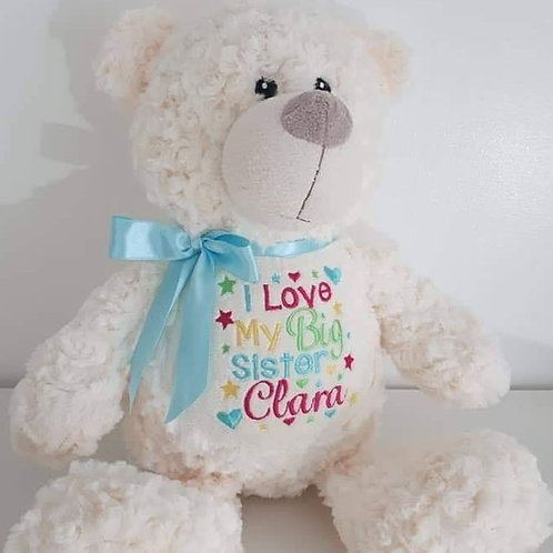 EMBROIDERED CREAM BEAR