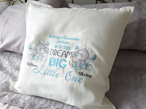 ELEPHANT DREAM BIG LITTLE ONE CUSHION COVER(COVER ONLY) BIRTH DETAILS