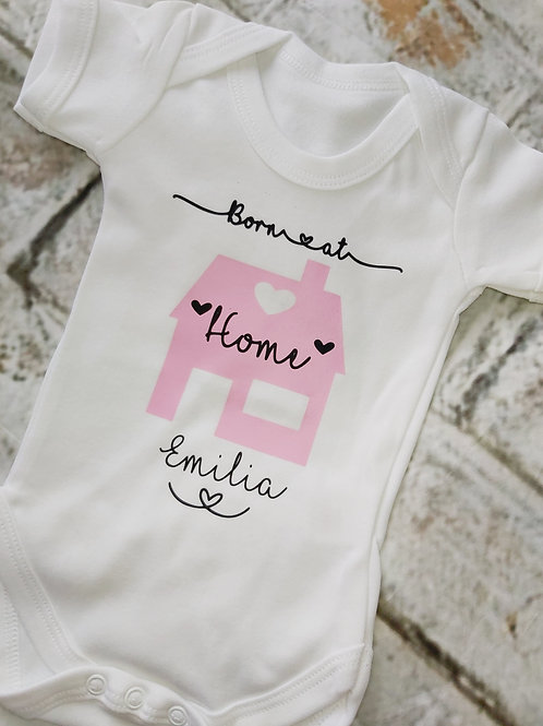 BORN AT HOME VEST OR SLEEPSUIT