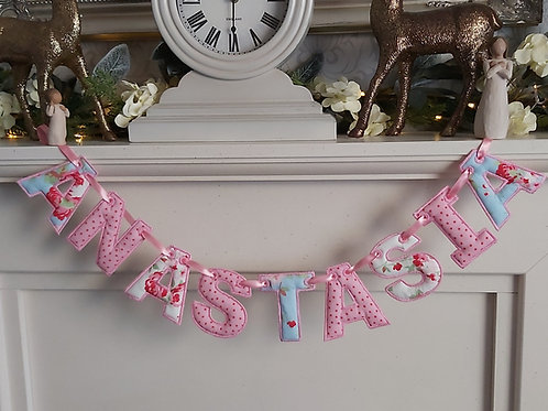 NAME BUNTING (NAME ONLY NO ENDS)