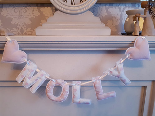 HEART NAME BUNTING